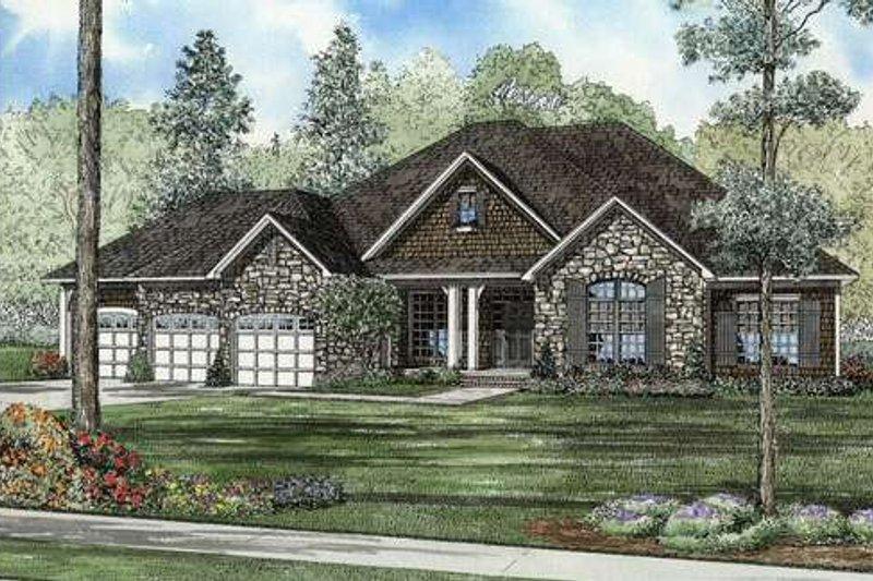 Dream House Plan - European Exterior - Front Elevation Plan #17-2349