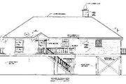 Beach Style House Plan - 3 Beds 2 Baths 1649 Sq/Ft Plan #37-139 Exterior - Rear Elevation