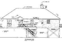 House Plan Design - Beach Exterior - Rear Elevation Plan #37-139