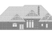 Craftsman Style House Plan - 3 Beds 2 Baths 3278 Sq/Ft Plan #1057-6 Exterior - Rear Elevation