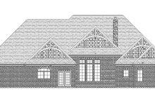 House Plan Design - Craftsman Exterior - Rear Elevation Plan #1057-6