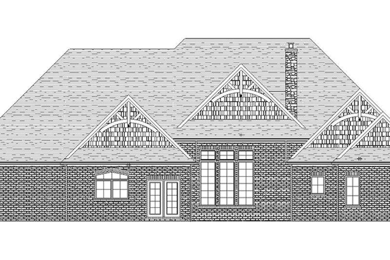 Craftsman Exterior - Rear Elevation Plan #1057-6 - Houseplans.com
