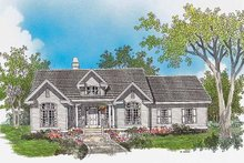Architectural House Design - Country Exterior - Front Elevation Plan #929-310