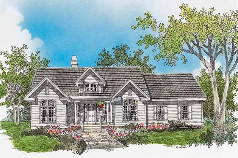 Country Exterior - Front Elevation Plan #929-310