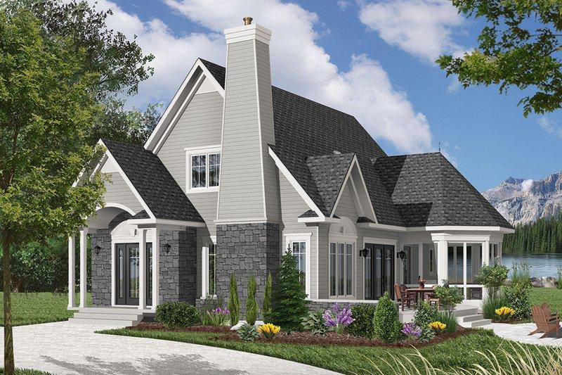 Dream House Plan - Cottage Exterior - Front Elevation Plan #23-614