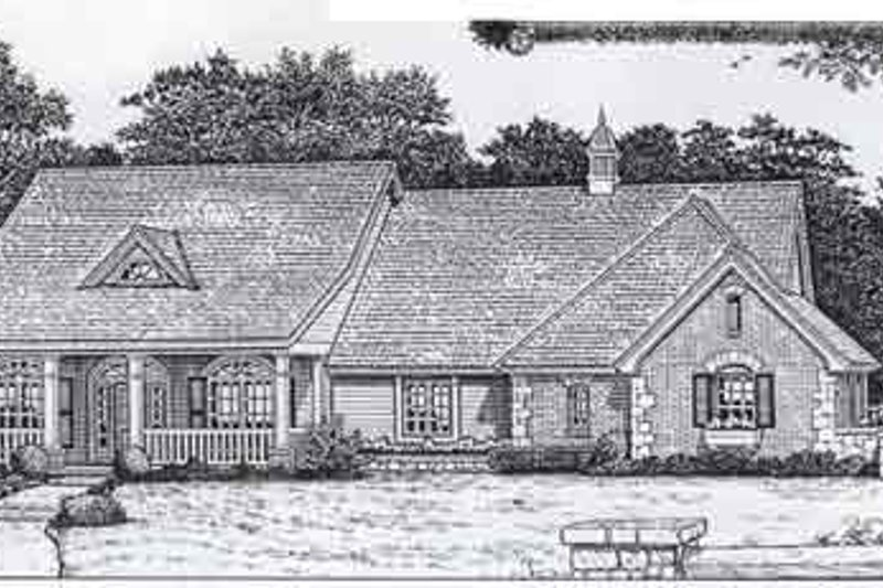 Colonial Style House Plan - 4 Beds 2.5 Baths 2190 Sq/Ft Plan #310-806 Exterior - Front Elevation