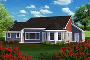 Ranch Style House Plan - 2 Beds 2 Baths 1783 Sq/Ft Plan #70-1164 Exterior - Rear Elevation