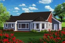 Ranch Exterior - Rear Elevation Plan #70-1164