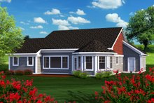 Home Plan - Ranch Exterior - Rear Elevation Plan #70-1164