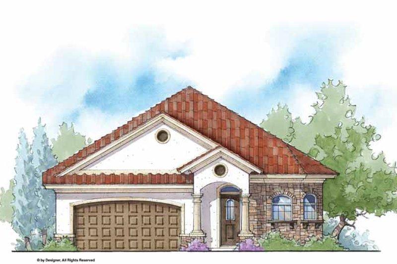 House Plan Design - Mediterranean Exterior - Front Elevation Plan #938-29