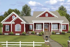 Ranch Exterior - Front Elevation Plan #56-696