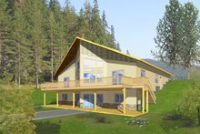 Home Plan - Ranch Exterior - Rear Elevation Plan #117-833