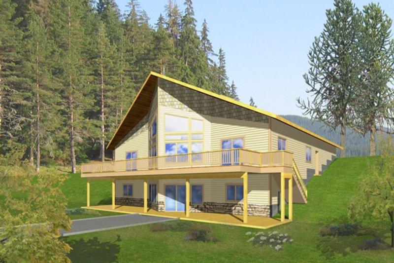 Architectural House Design - Ranch Exterior - Rear Elevation Plan #117-833