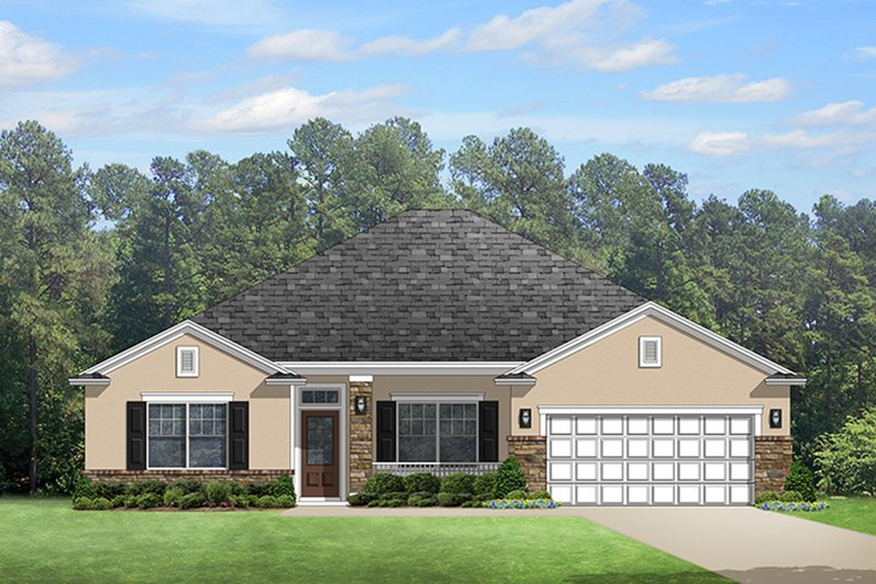 Dream House Plan - Colonial Exterior - Front Elevation Plan #1058-123