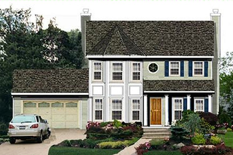Home Plan - Traditional Exterior - Front Elevation Plan #3-163