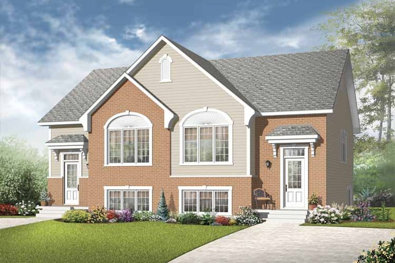 Home Plan - European Exterior - Front Elevation Plan #23-2398