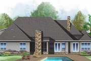 European Style House Plan - 5 Beds 4 Baths 3360 Sq/Ft Plan #929-1009 Exterior - Rear Elevation
