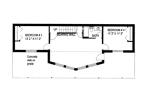 Craftsman Floor Plan - Lower Floor Plan Plan #117-843