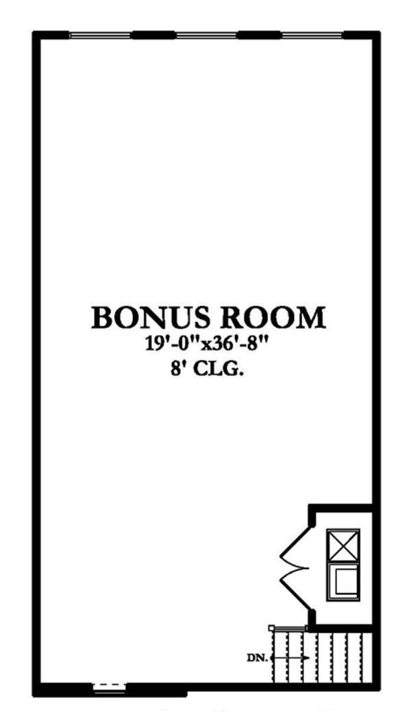 Country Floor Plan - Upper Floor Plan Plan #1058-114