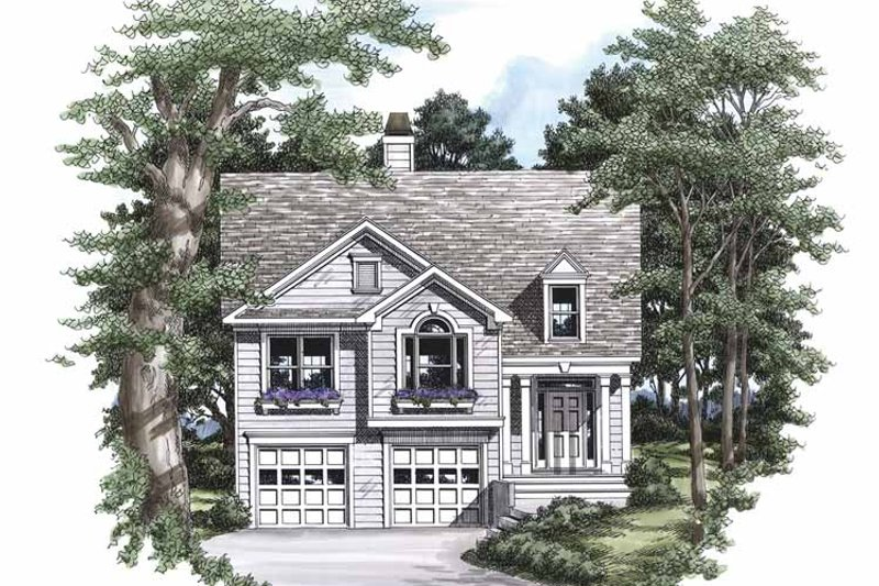 Country Exterior - Front Elevation Plan #927-446