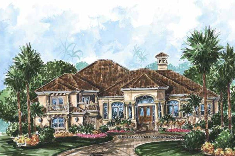 Dream House Plan - Mediterranean Exterior - Front Elevation Plan #1017-61