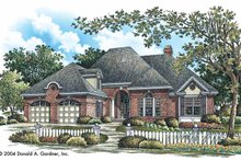 Dream House Plan - Traditional Exterior - Front Elevation Plan #929-744