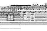 Prairie Style House Plan - 3 Beds 2 Baths 1947 Sq/Ft Plan #70-252 Exterior - Rear Elevation
