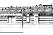 Prairie Exterior - Rear Elevation Plan #70-252