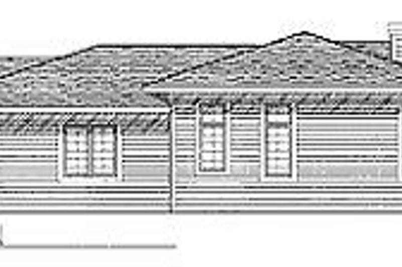 Prairie Exterior - Rear Elevation Plan #70-252 - Houseplans.com
