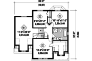 Traditional Style House Plan - 3 Beds 1 Baths 1773 Sq/Ft Plan #25-4495 Floor Plan - Upper Floor Plan