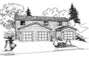 Traditional Style House Plan - 2 Beds 1.5 Baths 3312 Sq/Ft Plan #60-590 Exterior - Front Elevation