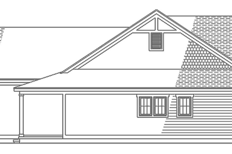 Ranch Exterior - Other Elevation Plan #991-28 - Houseplans.com