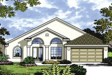 Mediterranean Exterior - Front Elevation Plan #417-841