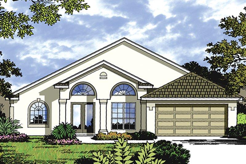 House Plan Design - Mediterranean Exterior - Front Elevation Plan #417-841