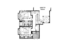 Craftsman Floor Plan - Upper Floor Plan Plan #942-30