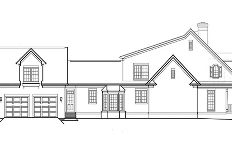 Classical Exterior - Other Elevation Plan #453-427 - Houseplans.com