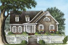 Colonial Exterior - Front Elevation Plan #137-317