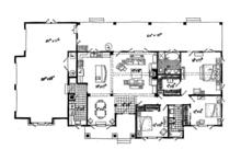 Ranch Floor Plan - Main Floor Plan Plan #942-15