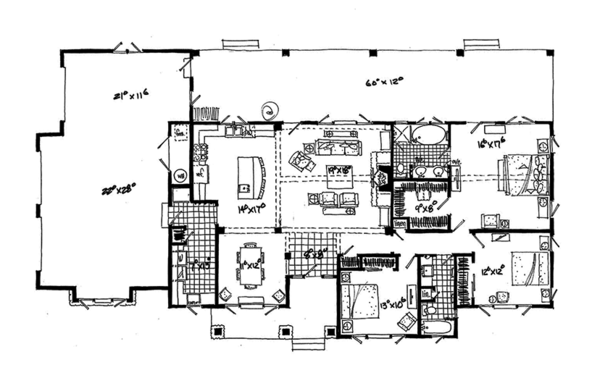 Ranch Floor Plan - Main Floor Plan Plan #942-15