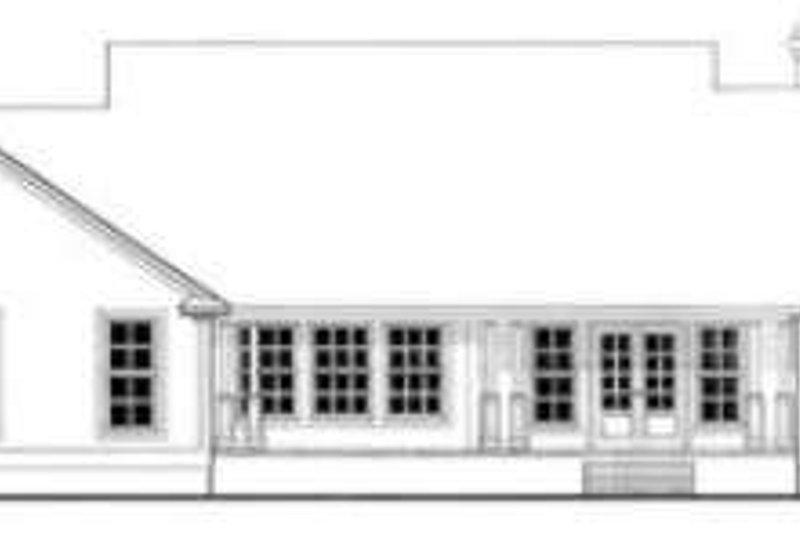 Country Exterior - Rear Elevation Plan #406-201 - Houseplans.com