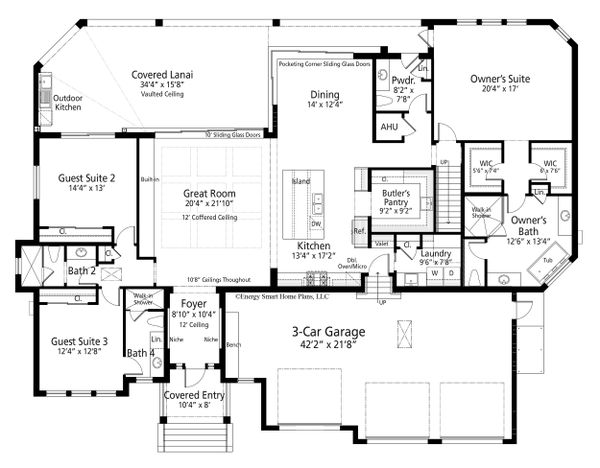 Dream House Plan - Ranch Floor Plan - Main Floor Plan #938-112