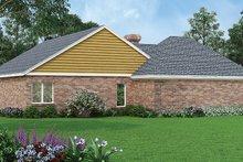 Dream House Plan - Ranch Exterior - Rear Elevation Plan #45-386