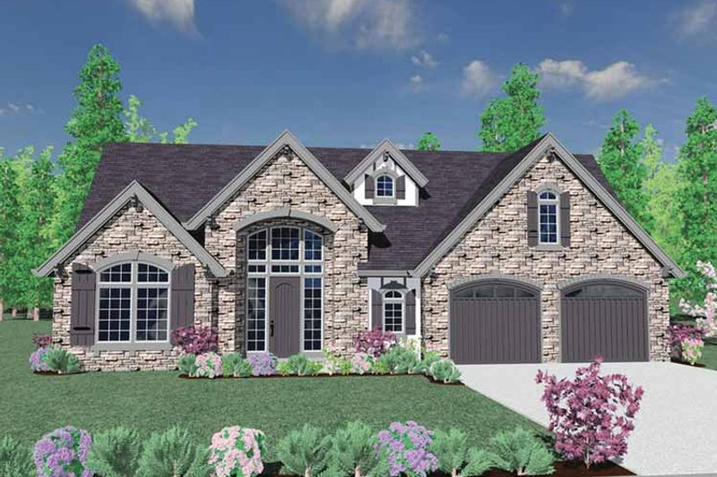 Country Exterior - Front Elevation Plan #509-372 - Houseplans.com