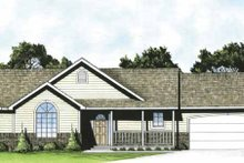Home Plan - Traditional Exterior - Front Elevation Plan #58-220