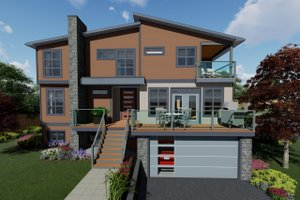 Contemporary Exterior - Front Elevation Plan #126-232