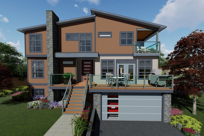 Dream House Plan - Contemporary Exterior - Front Elevation Plan #126-232