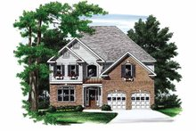 Architectural House Design - Colonial Exterior - Front Elevation Plan #927-692