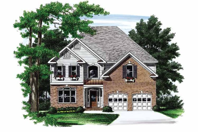 Colonial Exterior - Front Elevation Plan #927-692