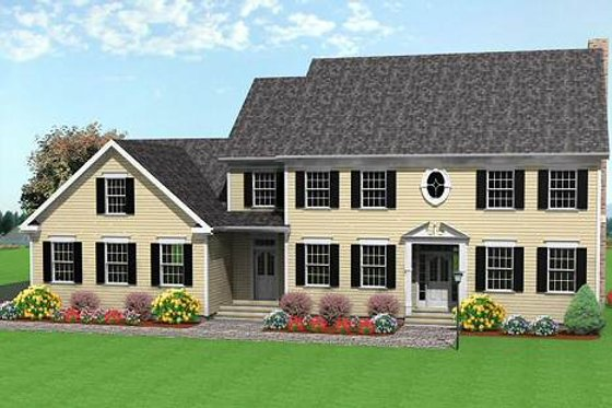 Colonial Exterior - Front Elevation Plan #75-111