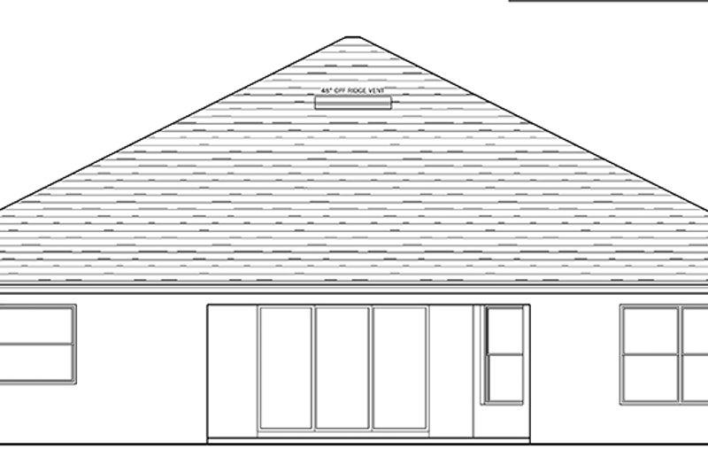Traditional Exterior - Rear Elevation Plan #1058-121 - Houseplans.com